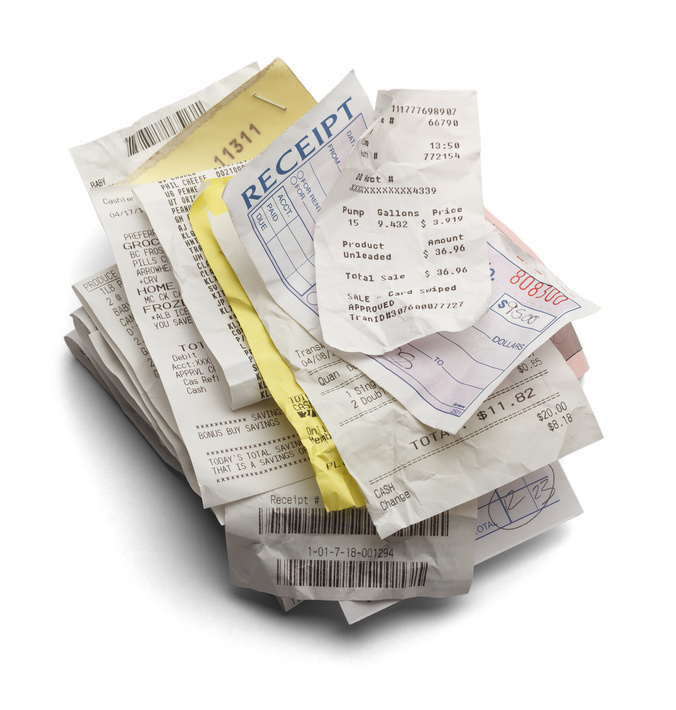 Receipts to digital filing system